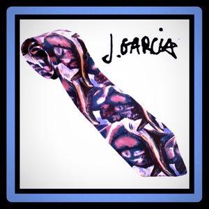 J Garcia ✌🏻silk tie EUC